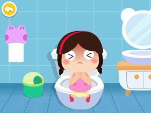 トイレうんち女の子